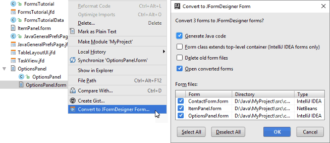 IntelliJ IDEA plug-in | JFormDesigner - Java/Swing GUI Designer