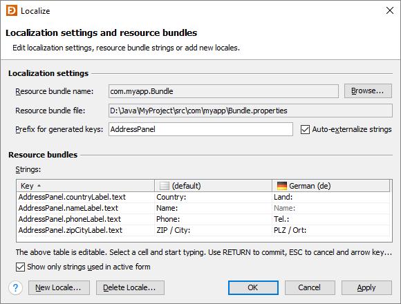 Localization | JFormDesigner - Java/Swing GUI Designer