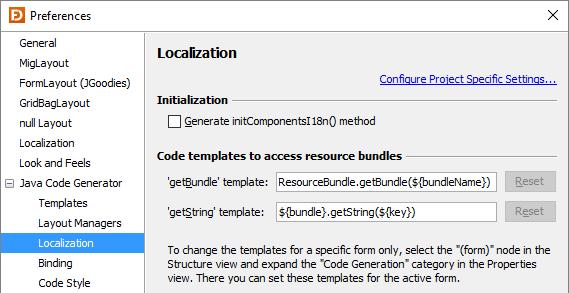 Preferences Jformdesigner Javaswing Gui Designer