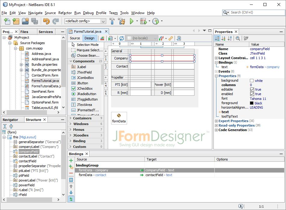 JFormDesigner screenshot